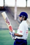 Sourav Ganguly gets ready to Bat