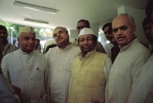 BHAJAN LAL WITH NARAYAN DUTT TIWARI AND OTHERS