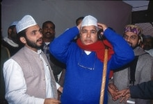 Lalu Prasad Yadav in an Iftar party