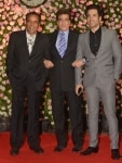 Tusshar Kapoor  Dharmendra and Jeetendra at Kapil Sharma's Reception