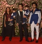 Krishna Abhishek and Kashmira Shahat at Kapil Sharma and Ginni Chatrath   s Reception