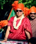 Meenakashi Lekhi clicked during her road show