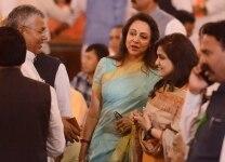 Hema Malini at the NDA meeting