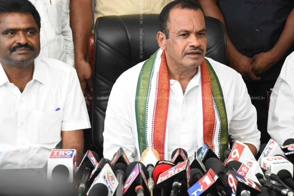 Buy Nalgonda Congress Komatireddy Venkat Reddy addresses a press conference in Nalgonda on Oct 5 2018 Photo IANS Pictures, Images, Photos By IANS - News pictures