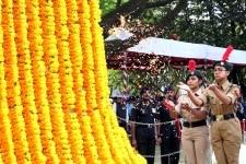 Bengaluru  Vijay Diwas celebrations underway at National War Memorial in Bengaluru on Dec 16  2018  Photo  IANS