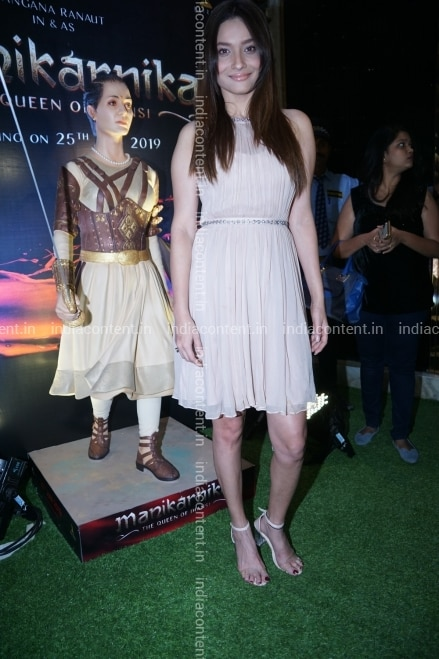 Buy Mumbai Actress Ankita Lokhande During A Party Hosted By Fashion Designer Neeta Lulla For The Cast And Crew Of The Upcoming Film Manikarnika The Queen Of Jhansi In Mumbai On Dec