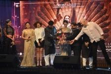 Mumbai  Actresss Kangana Ranaut Ankita Lokhande CBFC chief Prasoon Joshi and Shankar Ehsaan Loy at the music launch of her upcoming film  Manikarnika  The Queen Of Jhansi  in Mumbai on Jan 9  2019  Photo  IANS