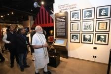 Mumbai  Prime Minister Narendra Modi visits the National Museum of Indian Cinema  in Mumbai on Jan 19  2019 Also seen Maharashtra Governor C Vidyasagar Rao and Chief Minister Devendra Fadnavis  Union Minister Rajyavardhan Singh Rathore and Central