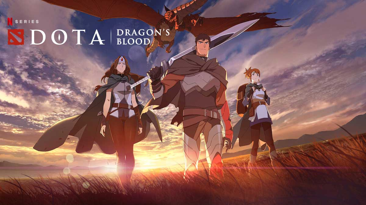 Netflix DOTA Dragon's Blood anime series