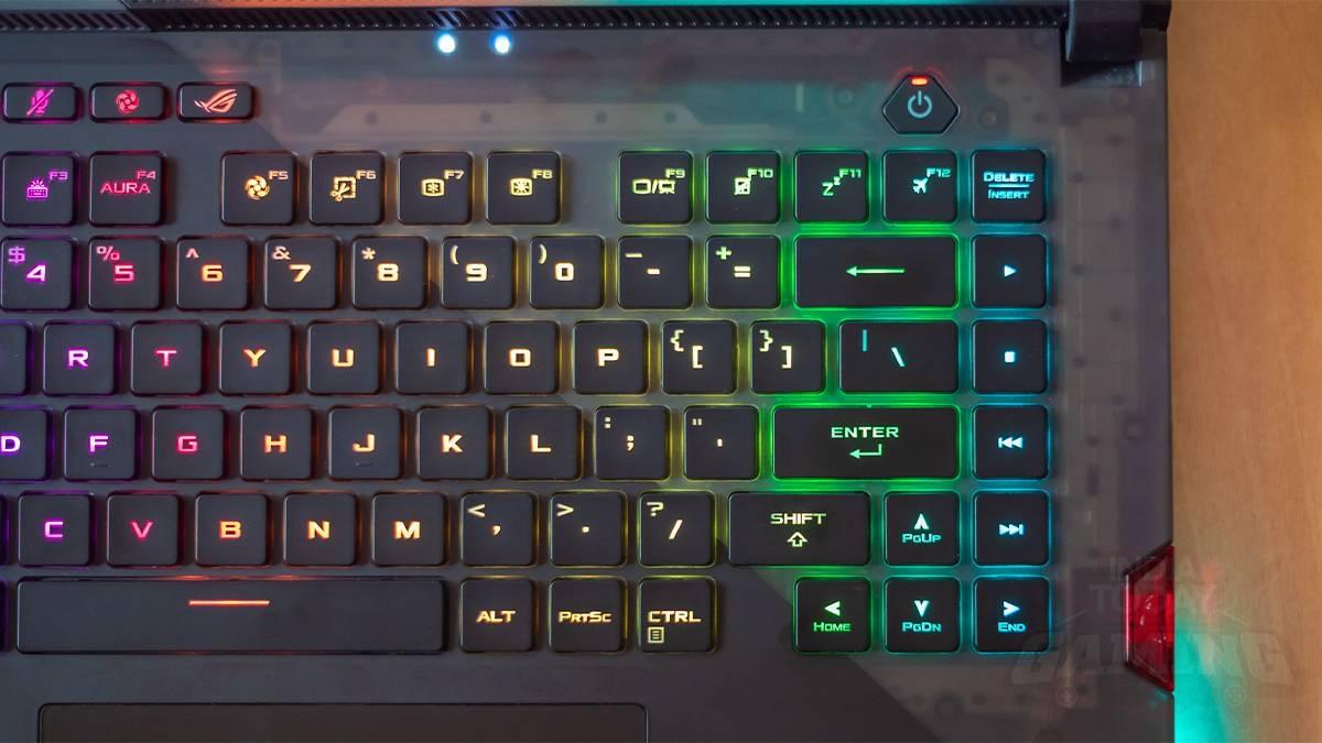 Translucent area around the keyboard on ROG Strix Scar 15 G533QS