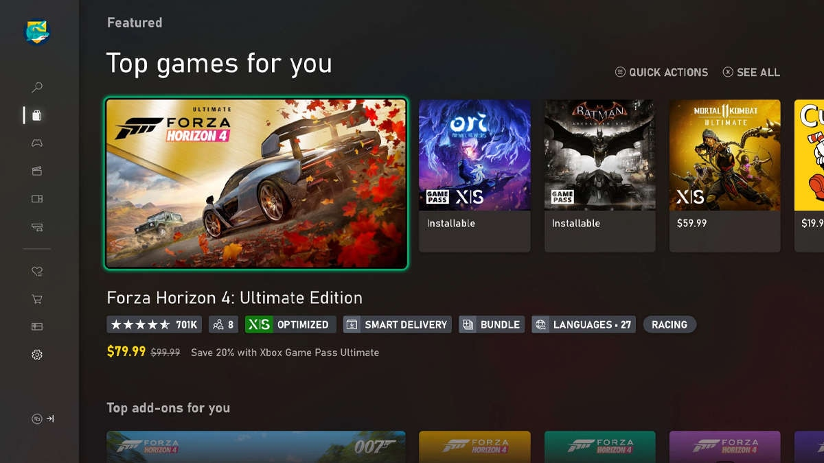Microsoft Xbox preferred language tags
