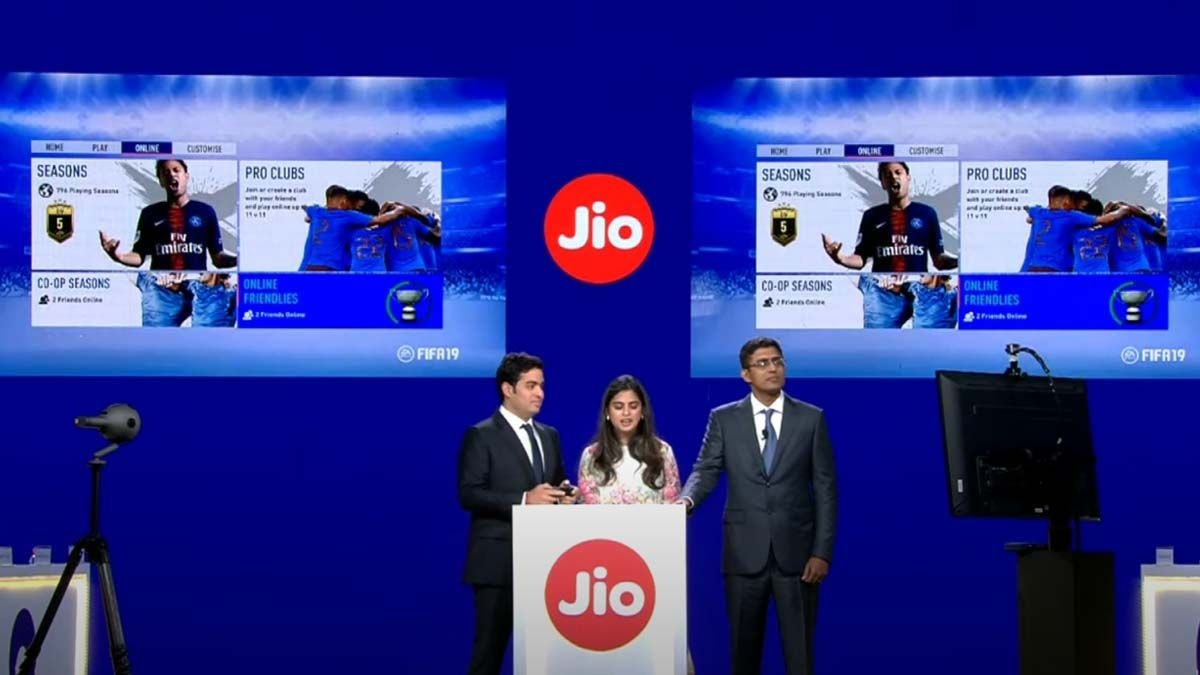 Reliance Jio Cloud Gaming demo from 2019 for FIFA19