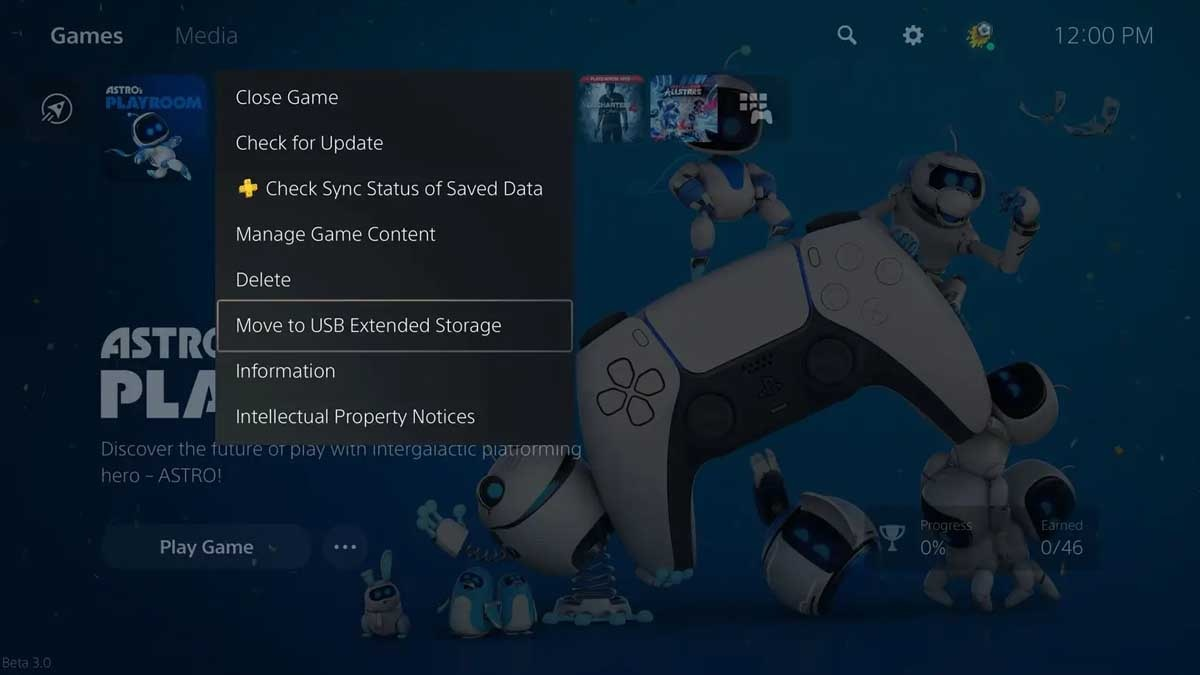 Sony PS5 external storage support