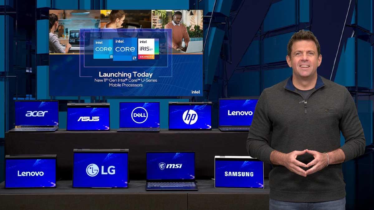 Intel COMPUTEX 2021 Keynote address with new U-Series mobile processors, Alder Lake showcase
