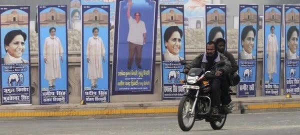2011 में चुनाव प्रचार के दौरान लखनऊ का माहौल, क्रेडिट: reuters
