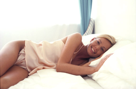 Woman in Lingerie Lying on Bed Original Filename: a0069-000056.jpg
