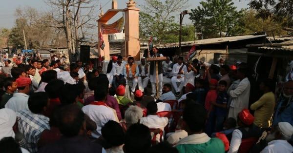 पथरदेवा में सपा की एक सभा