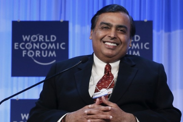Mukesh Ambani Chairman and Managing Director of Reliance Industries attends the annual meeting of the World Economic Forum (WEF) in Davos January 25, 2013. REUTERS/Pascal Lauener (SWITZERLAND - Tags: POLITICS BUSINESS) - RTR3CY35