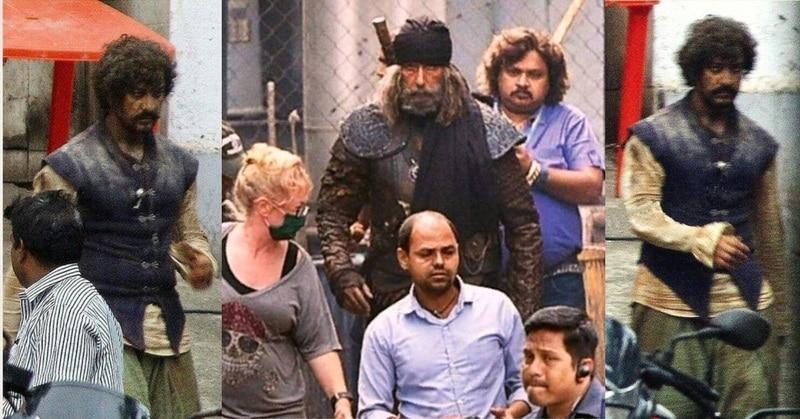 """""""ठग्स ऑफ हिंदोस्तान"""" की शूटिंग के दौरान आमिर और अमिताभ. (फोटोः इंस्टाग्राम)"""