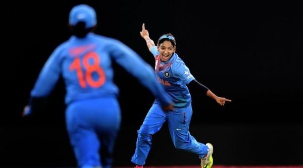 Indian women cricket team player Harmanpreet Kaur during the ICC World Twenty 20 match against Pakistan, Feroze shah Kotla stadium in New Delhi on March 19th 2016. Express photo by Ravi Kanojia.