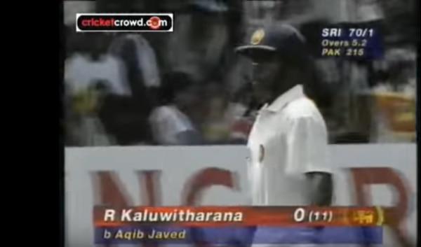 उस मशहूर मैच का स्क्रीन शॉट. कालूवितरना ज़ीरो पर आउट हैं, स्कोर बोर्ड पर 70 रन हैं.