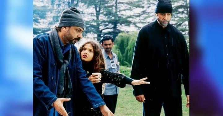 'ब्लैक' के सेट पर संजय भंसाली और अमिताभ. (फोटोः अमिताभ बच्चन)
