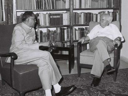 इज़रायल के प्रधानमंत्री के साथ जयप्रकाश नारायण