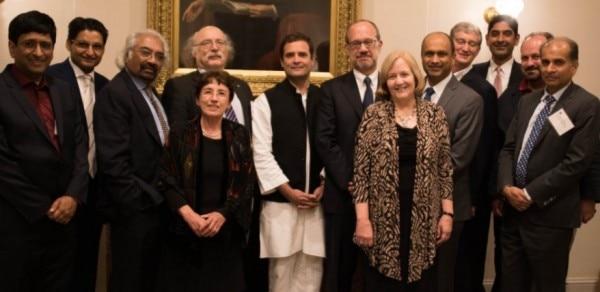 राहुल अमेरिका में कई डिप्लोमैट्स, बिजनेसमैन और एनआरआई से मिले.