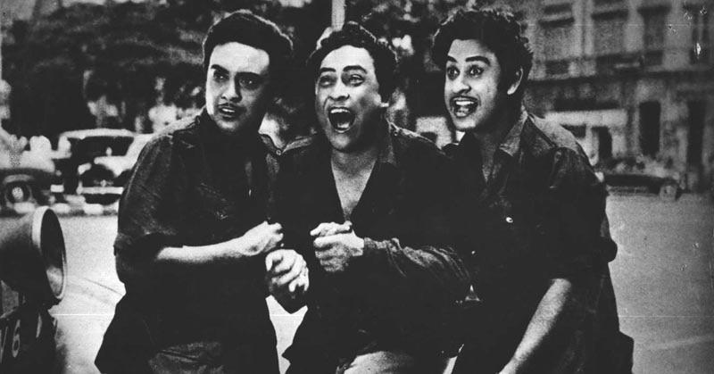 फिल्म 'चलती का नाम' गाड़ी के एक दृश्य में अनूप, अशोक और किशोर कुमार.