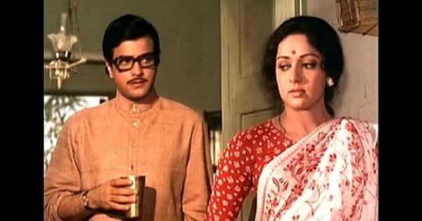फिल्म 'खूशबू' के एक सीन में जीतेंद्र और हेमा.