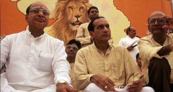 राष्ट्रीय जनता पार्टी के कार्यक्रम में शंकर सिंह वाघेला और दिलीप पारीख