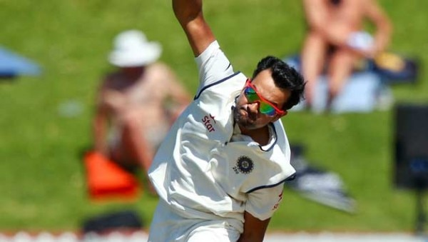 Rohit-Sharma-of-India-bowls-during-day-four-of-the-2nd-Test-match-between-New-Zealand-and-In