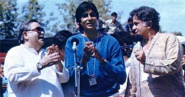 शम्मी कपूर (बाएं), अमिताभ बच्चन (बीच में) और शशि कपूर (दाएं)