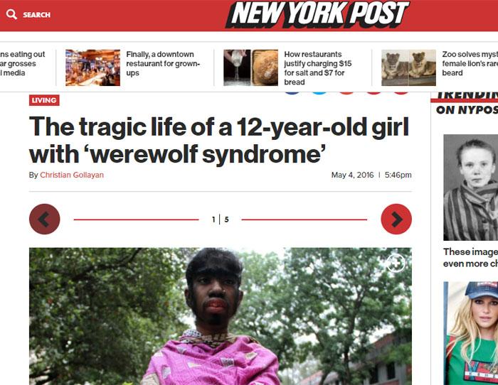 ये अमेरिका के न्यू यॉर्क पोस्ट में छपी बीथी की खबर का स्क्रीनशॉट है.