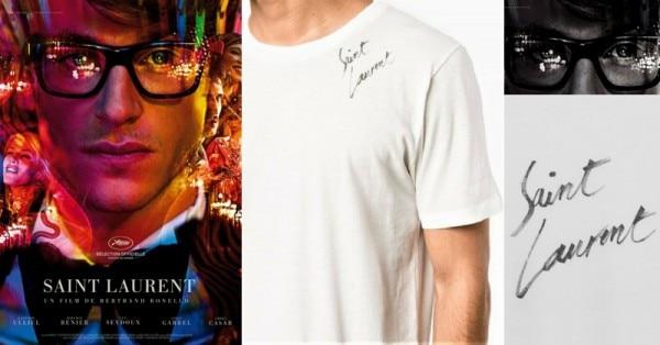 फ्रेंच फिल्म 'सेंट लॉरेंट' का पोस्टर और इस ब्रैंड की वो टी-शर्ट जो शाहरुख ने पहनी.