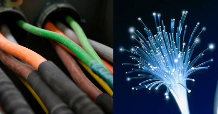फाइबर में लाइट को बांध कर रखने के लिए फिजिक्स का टोटल इंटरनल रिफ्लेक्शन वाला कॉन्सेप्ट काम में आता है.