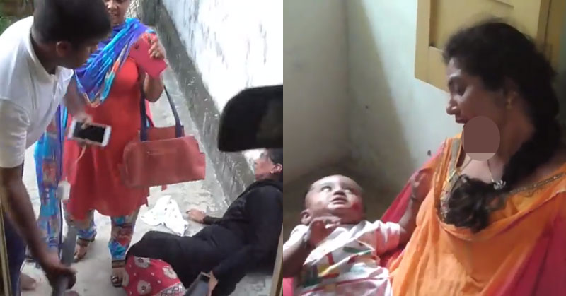 Video of a Man beating two women and a kid goes viral, Hindus and Muslims blame each other for the same incident
