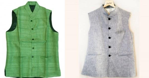 दस अंतर ढूंढो - लेफ्ट वाला नेहरू जैकेट है और राईट वाला मोदी जैकेट. (तस्वीरे क्रमशः indrayanihandlooms.com और wedlista.com से)