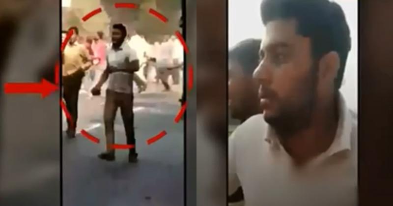 बुलंदशहर:वीडियो में दंगाइयों के साथ पुलिस पर पत्थर फेंक रहे शख्स को सुमित बताया जा रहा है