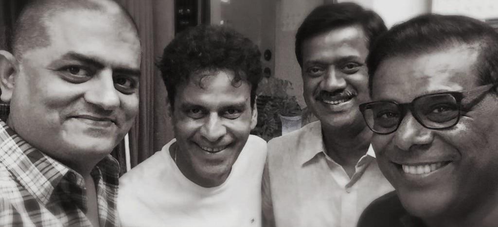 'एक्ट वन' के दौर के अपने साथियों मनोज बाजपेयी, निखिल वर्मा और आशीष विद्यार्थी के साथ गजराज राव.