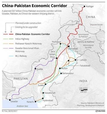CPEC प्रोजेक्ट पाकिस्तान अधिकृत कश्मीर, खैबर पख्तूनख्वाह और बलूचिस्तान जैसे कई संवेदनशील इलाकों से गुजरता है. तस्वीर रॉयटर्स.