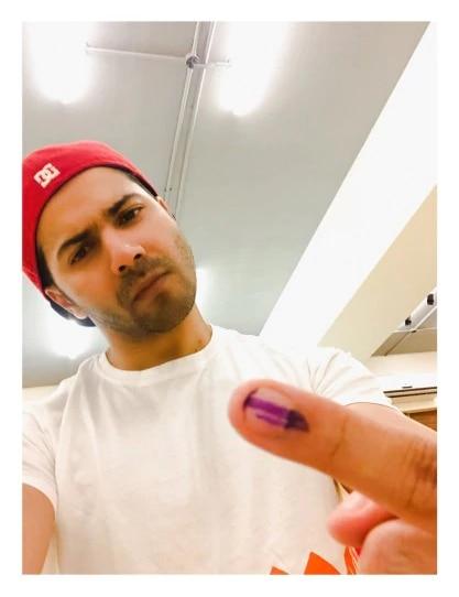 varun dhawan voting