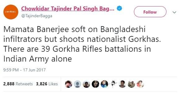 ममता बैनर्जी पर लंबे वक्त से हमलावर हैं तेजिंदर पाल सिंह बग्गा.