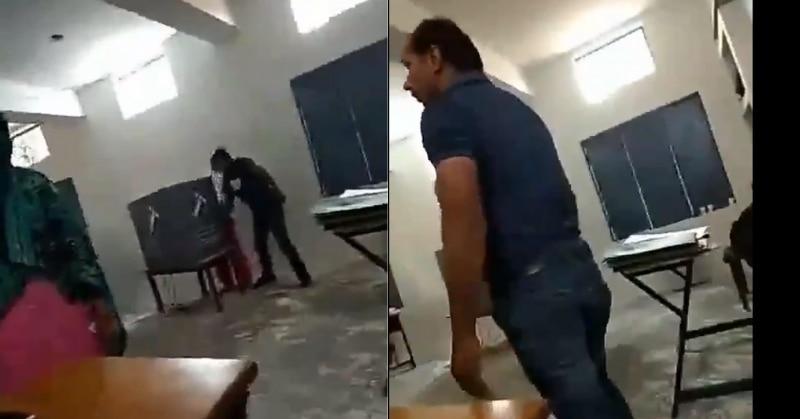 मदद के बहाने खुद ही वोट डाल रहा था पोलिंग एजेंट, वीडियो वायरल होने के बाद गिरफ्तार
