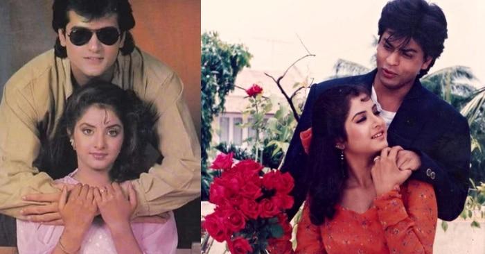 फिल्म के शुरुआती फोटोशूट में लीडिंग लेडी दिव्या भारती के साथ अरमान कोहली. और फिल्म के फाइनल कट में अपनी लीडिंग लेडी के साथ शाहरुख खान.