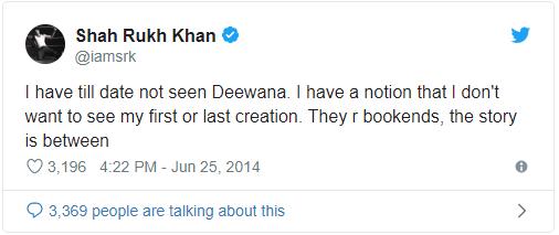 shah rukh tweet