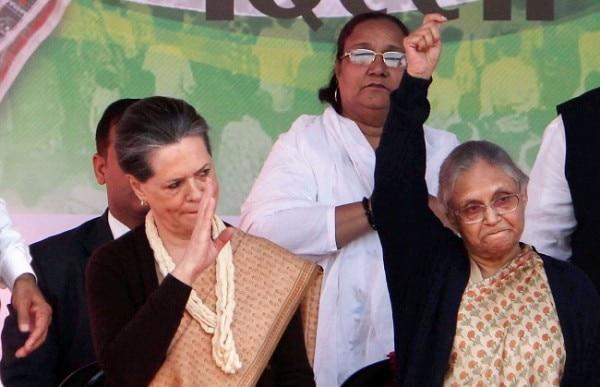 Sheila Dikshit Sonia Gandhi