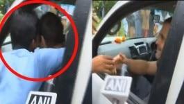 टाटा-बाय कर रहे राहुल गांधी को अचानक लड़के ने चूम लिया, वीडियो वायरल!