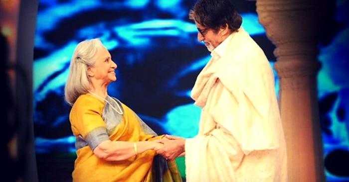 एक इवेंट के दौरान अमिताभ बच्चन के साथ वहीदा रहमान.