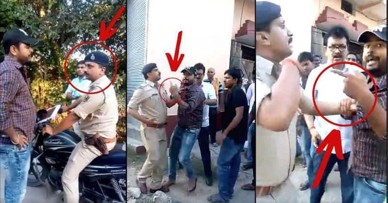 Image result for बिहार के बक्सर जिले पुलिसकर्मी के साथ ट्रैफिक नियमों का पालन नहीं करने